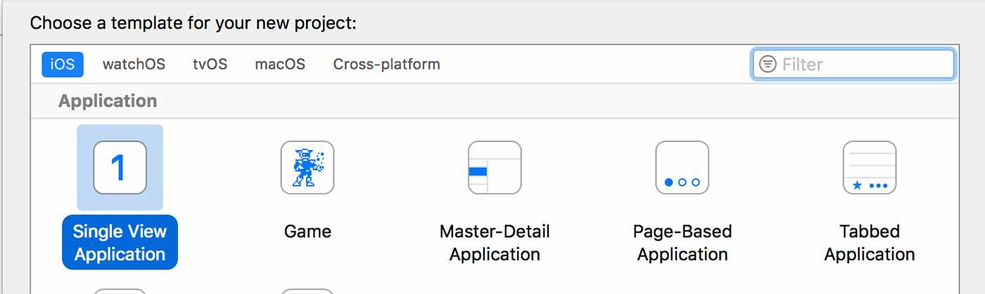Create a new Xcode single view application