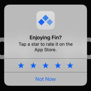 Ask the users to leave a rating with a popup
