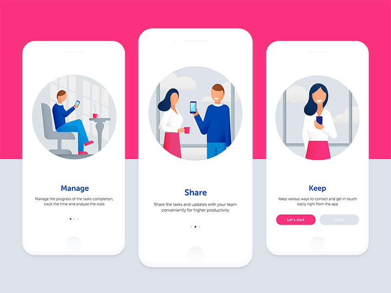 An app onboarding sequence