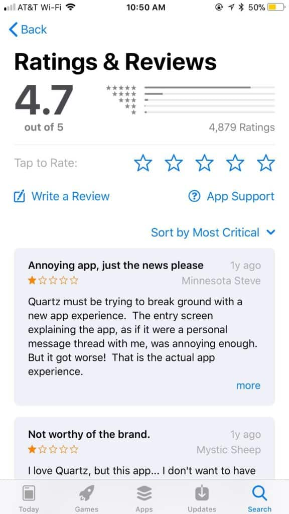 App Store Reviews