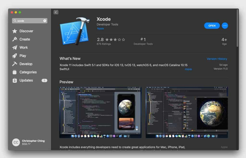 Download the latest version of Xcode from the Mac App Store