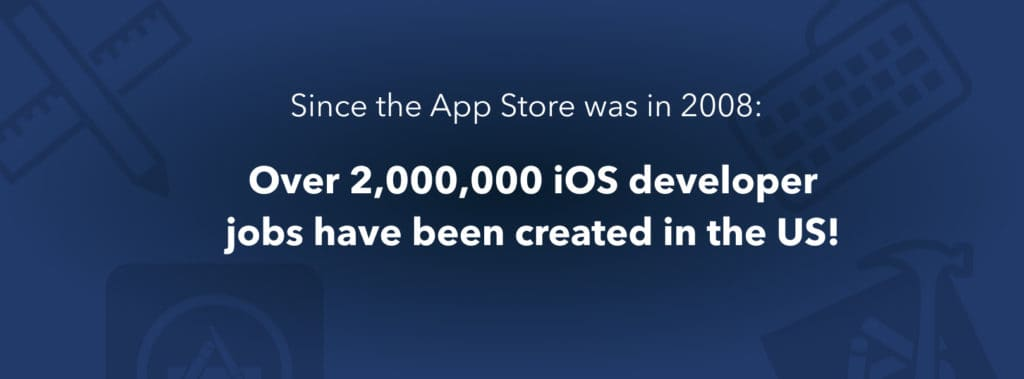 Since the app store was launched, over 2 million jobs have been created in the US.