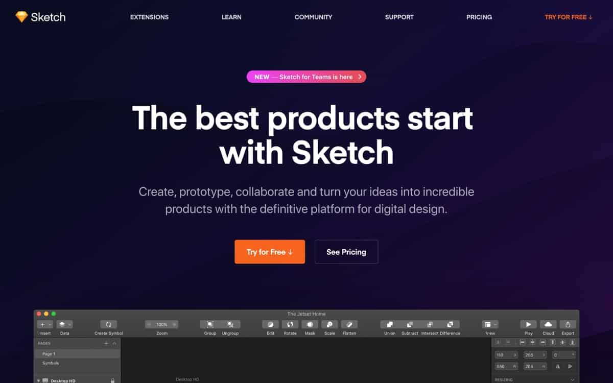 Sketch website