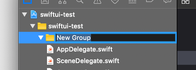 Adding groups to Xcode