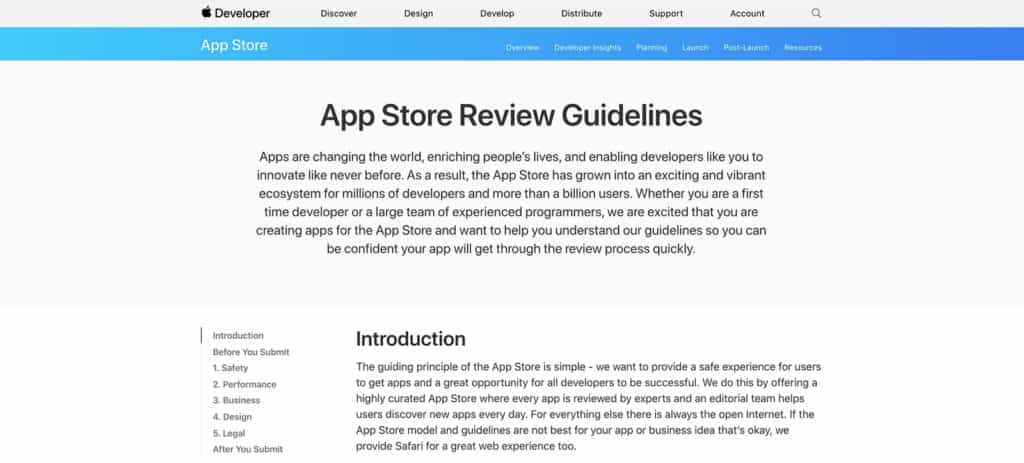 App Store Guidelines